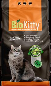 Наполнитель с белого бентонита BioKitty Compact Size (0,6-2,2mm) Aloe Vera 5 л