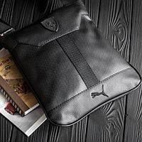 Планшет Puma Ferrari Slim, сумка через плечо Пума, мессенджер, цвет черный