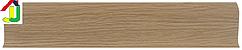 Плінтус пластиковий LinePlast L012 Дуб Рустик з кабель-каналом, підлоговий з м'якими краями