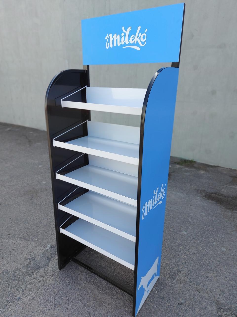 Стеллаж-стойка 📌 5 полок, 40*70*185 см, металл Голубой