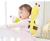 АКЦИЯ Детская защита для головы противоударная подушка от падений пчелка с колечком