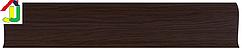 Плінтус пластиковий LinePlast L014 Венге з кабель-каналом, підлоговий з м'якими краями