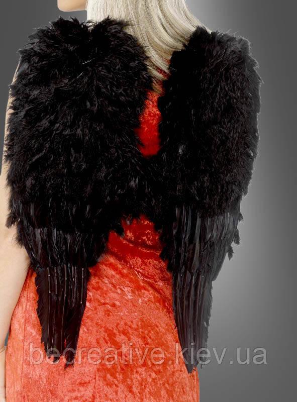 Карнавальные черные крылья ангела