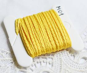 Нить плетеная, Турция, 5 м, желтая