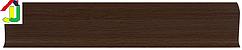 Плінтус пластиковий LinePlast L015 Мербау натуральний з кабель-каналом, підлоговий з м'якими краями