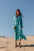 Летнее женское платье длиной макси, фото 2