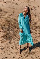 Летнее женское платье длиной макси, фото 3
