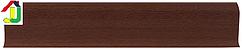 Плінтус пластиковий LinePlast L016 Світлий Махагон з кабель-каналом, підлоговий з м'якими до