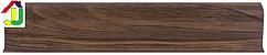 Плінтус пластиковий LinePlast L017 Горіх темний з кабель-каналом, підлоговий з м'якими краями