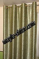 Готові штори на люверсах блекаут зелений, фото 1
