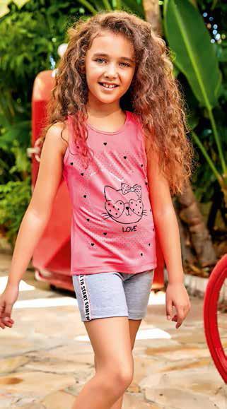 Комплект для девочки 5532 майка+шорты Berrak