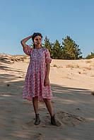 Летнее женское платье длиной до колена, фото 2