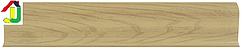 Плінтус пластиковий LinePlast L020 В'яз дерево з кабель-каналом, підлоговий з м'якими краями