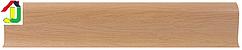 Плінтус пластиковий LinePlast L022 Дуб Арізона з кабель-каналом, підлоговий з м'якими краями