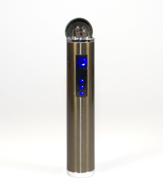 Зажигалка электроимпульсная, импульсная сенсорная, золотистая USB ZGP 2