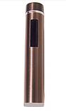 Зажигалка электроимпульсная, импульсная сенсорная, золотистая USB ZGP 2, фото 2