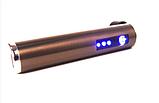 Зажигалка электроимпульсная, импульсная сенсорная, золотистая USB ZGP 2, фото 3