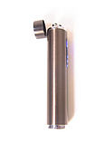 Зажигалка электроимпульсная, импульсная сенсорная, золотистая USB ZGP 2, фото 5
