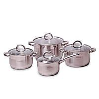 Набор посуды 8 предметов из нержавеющей стали для индукции Kamille, фото 1