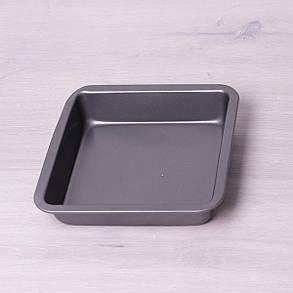 Форма для запекания квадратная металлическая Kamille 22.5*22.5*4.5см, фото 2