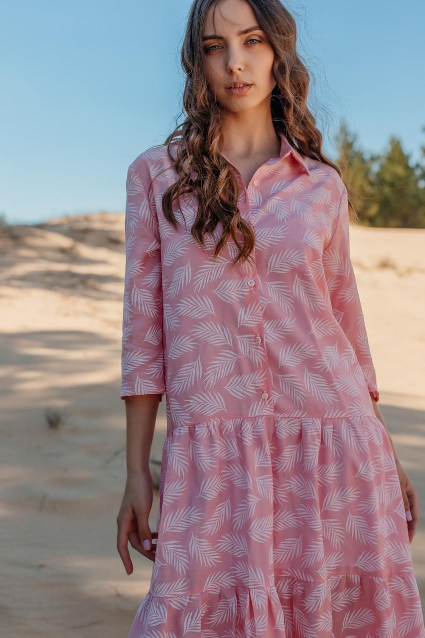 Летнее женское платье длиной макси