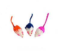 Lucky Fox (Лаки Фокс) Игрушка для кошек набор меховые двухцветные мыши