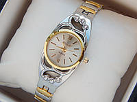 Женские кварцевые наручные часы Kmair на металлическом ремешке со стразами, фото 1