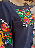 Жіноча вишита футболка на 3/4 рукав, фото 2