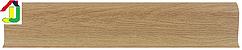 Плінтус пластиковий Дуб Античний з кабель-каналом LinePlast L023, підлоговий пластиковий плінтус