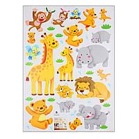 """Интерьерная наклейка на стену в детскую """"Забавные животные"""""""