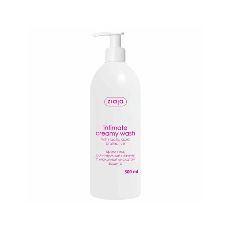Крем-гель для інтимної гігієни Ziaja з молочною кислотою(захист), 500мл