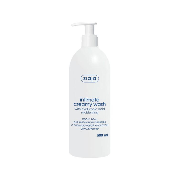 Крем-гель для інтимної гігієни Ziaja з гіалуроновою кислотою(зволоження), 500мл