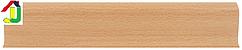 Плінтус пластиковий LinePlast L024 Бук Світлий з кабель-каналом, підлоговий з м'якими краями