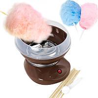Апарат для солодкої вати Cotton Candy Maker + палички в подарунок Коричневий