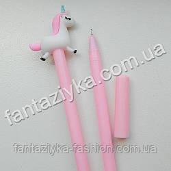 Ручка розовая с единорогом