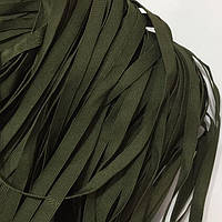 Репсовая лента для трикотажных изделий 10мм цв хаки (боб 50м)