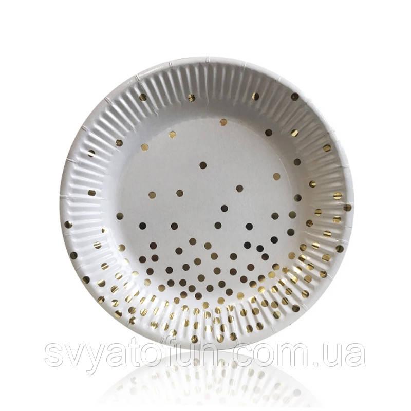 """Набор тарелок """"Золотое конфетти"""" 10 шт/уп"""