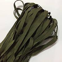 Репсовая лента для трикотажных изделий 8мм цв хаки (боб 50м)