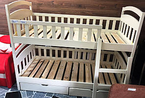 Ліжко 2-х поверхове слонова кість