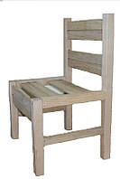 Детский стульчик для детского сада-неразборный ольховый.