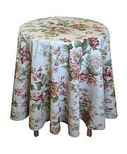 Скатертина на стіл кругла Глорія Троянда