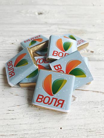 """Шоколад с лого """"Плитка c логотипом 5 гр"""" Корпоративные подарки, Подарки с логотипом, Сувенир с лого, фото 2"""