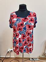 Женская Блуза маки Батал