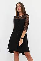 S, M, L | Вишукане романтичне плаття Аделін, чорний