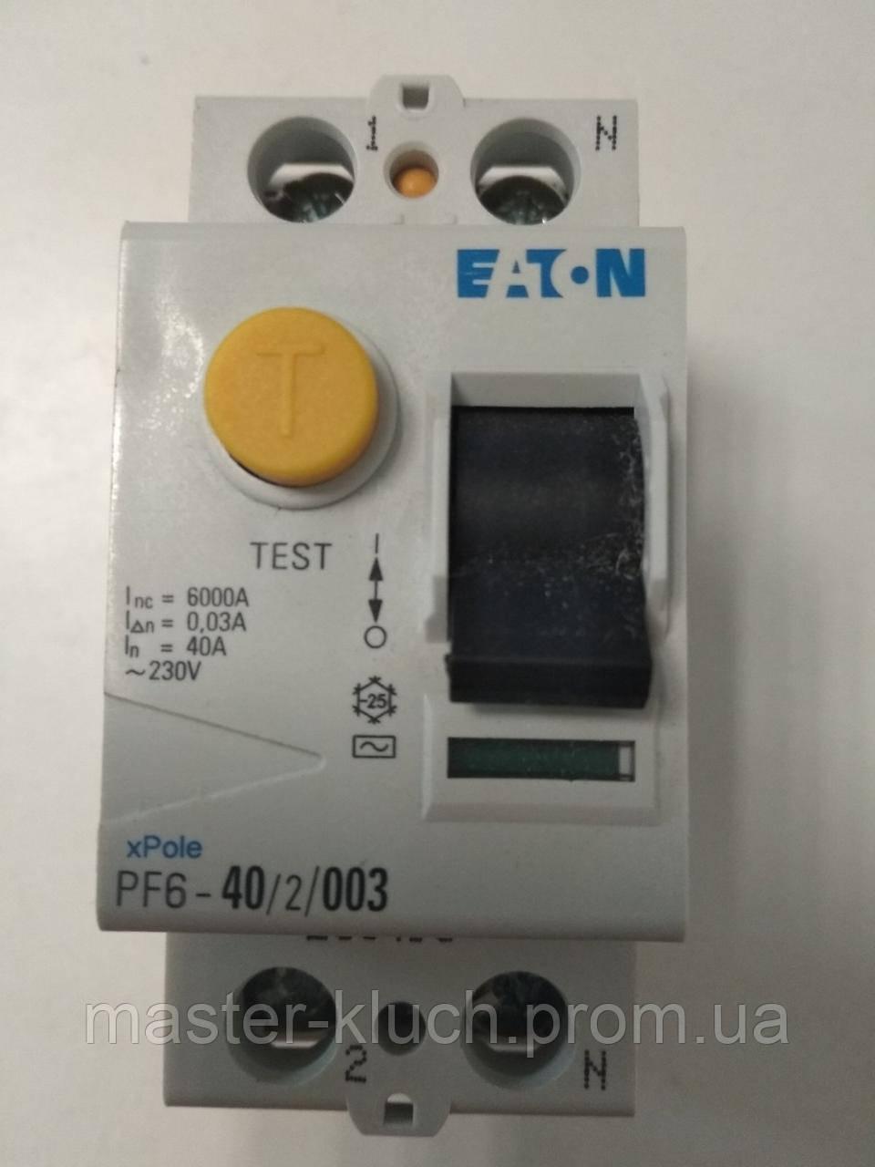 Устройство защитного отключения (УЗО) EATON PF-6 2P 40A 30мА