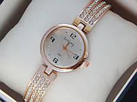 Женские кварцевые наручные часы GoGoey на металлическом ремешке со стразами, Orange, фото 1