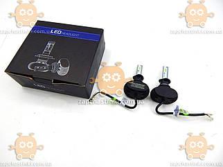 Светодиодные LED лампы H1 6500K 6000LM 25W (12-24V) (2шт) САМЫЕ МОЩНЫЕ! (пр-во HEADLIGHT) ПД 170409