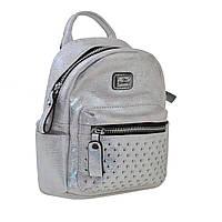Женская сумка-рюкзак YES, серебро, 17*20*8см