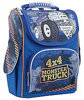 Рюкзак школьный для мальчика 6-9 лет каркасный 1 Вересня H-11 Monster Truck, 34*26*14