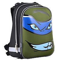 Рюкзак школьный каркасный для мальчика 6-9 лет 1 Вересня H-12 Turtles face, 38*29*15